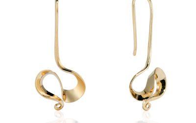Handmade Orchid Earrings