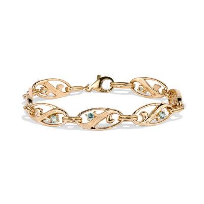 Maine Green Tourmaline Arabesque Bracelet