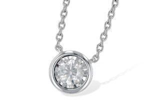 Simple Diamond Pendant Necklace