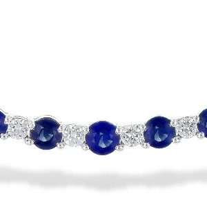 Diamond and Sapphire Bar Necklace