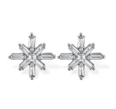 DFiamond snowflake earrings