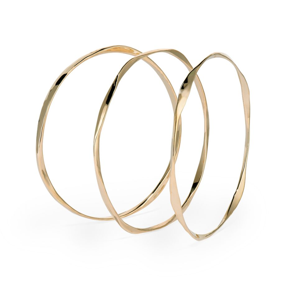 multiple sided hand forged bangles