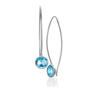 Comet with Blue Topaz