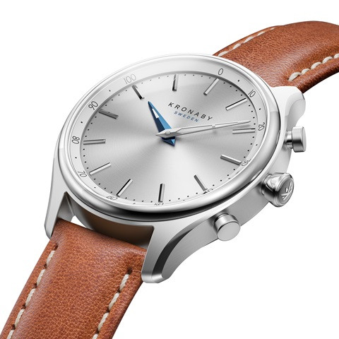 Kronaby Sekel S0658-1- Hybrid smartwatch #280013 brown leather