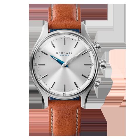 Kronaby Sekel S0658-1- Hybrid smartwatch #280013 Brown Leather 38mm