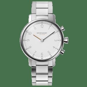 Kronaby Nord S0710-1: 38MM, White Dial, Steel Silver Bracelet #280021 smartwatch watch front