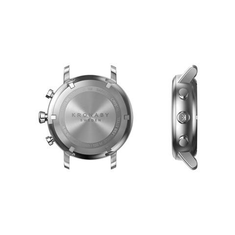Kronaby Nord S0710-1: 38MM, White Dial, Steel Silver Bracelet #280021 smartwatch watch case