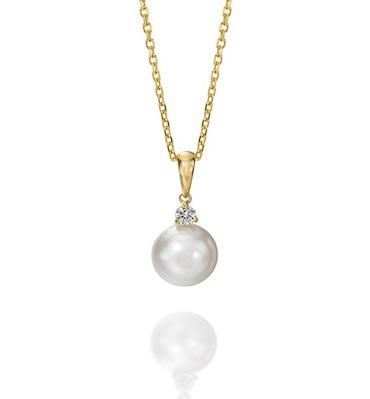 single pearl pendant necklace