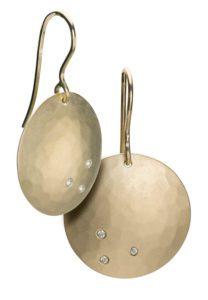 Full Moon earrings with diamonds