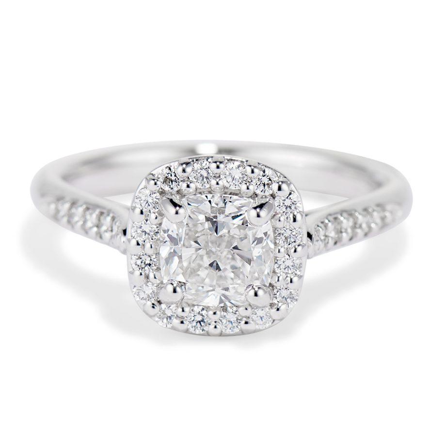 Diamond Halo Jubilee Ring
