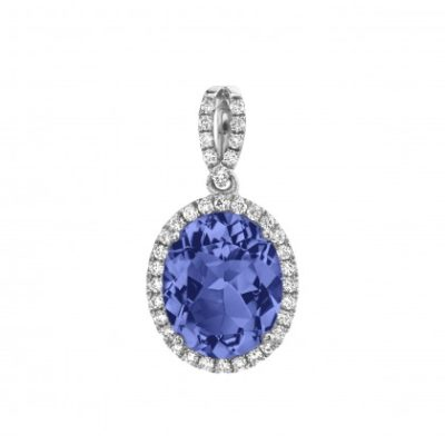 violet blue tanzanite pendant