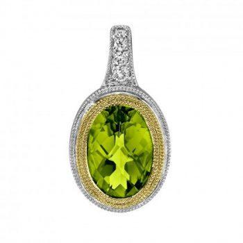 Peridot and Diamond Pendant 393570