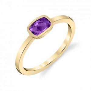 bezel set amethyst ring