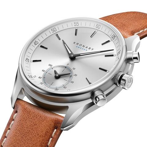 Kronaby Sekel- Hybrid smartwatch - S0713-1- watch - 43mm side view