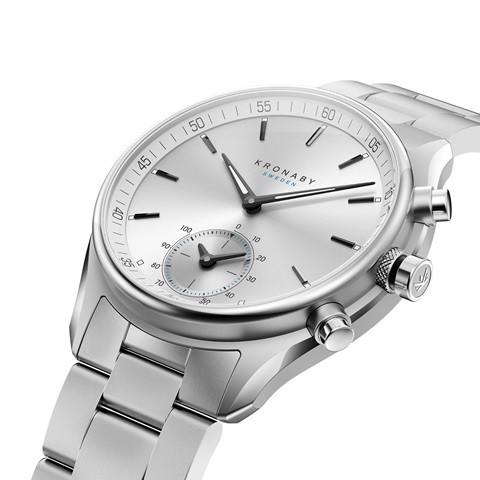 Kronaby S0715_1 sekel-43mm Hybrid smart watch 280007 diagonal view