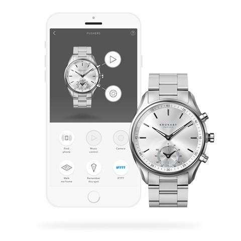 Kronaby S0715_1 sekel-43mm Hybrid smart watch 280007 app