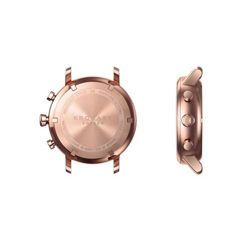 Kronaby Carat S1400-1: 38MM, White Dial, Rose Mesh Bracelet #280028 smartwatch watch back