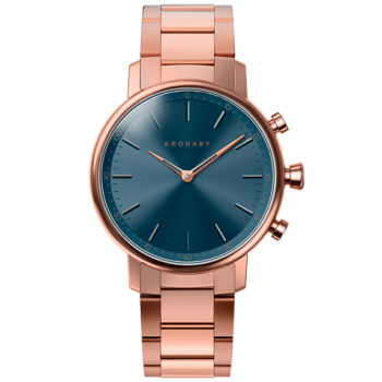 kronaby-carat-hybrid-smartwatch-38mm-rose-gold-bracelet S2445 watch front