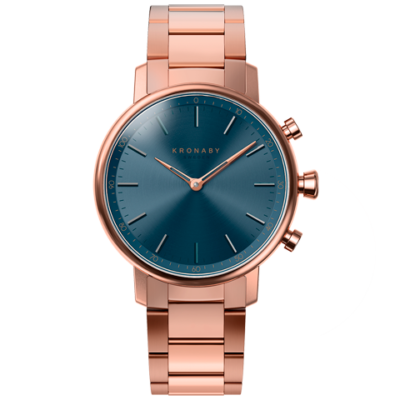 kronaby-carat-hybrid-smartwatch-38mm-rose-gold-bracelet S2445 watch front