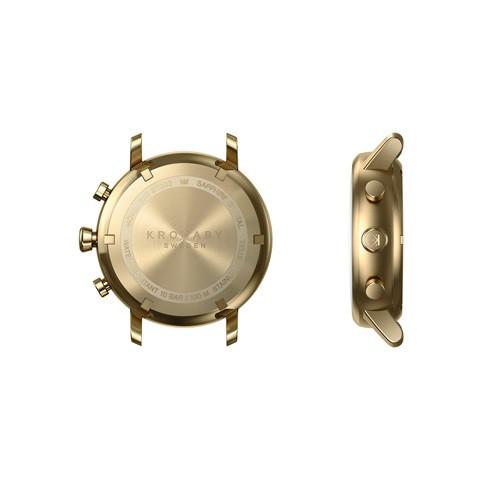 Kronaby Carat S2447-1: 38MM, White Dial, Gold Bracelet #280025 smartwatch watch back