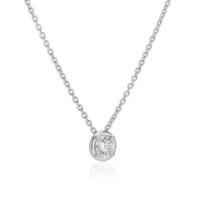 diamond luna pendant