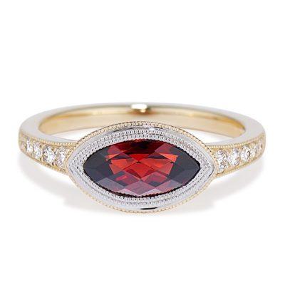 Garnet Marquise Ring