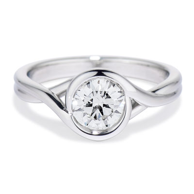 Our Signature Platinum Embrace Ring