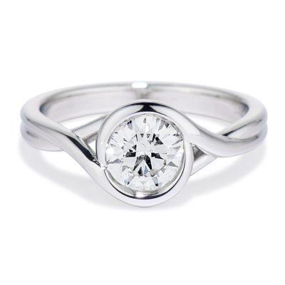 Our Signature Platinum Embrace Ring