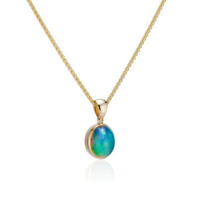 Ethiopian Opal Pendant oval