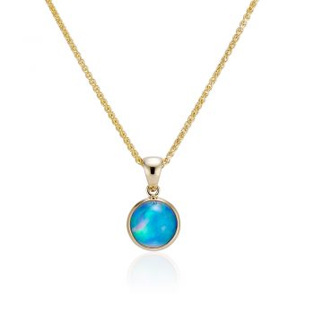 Round Ethiopian Opal Pendant