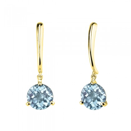 Aquamarine dangle earrings 393036