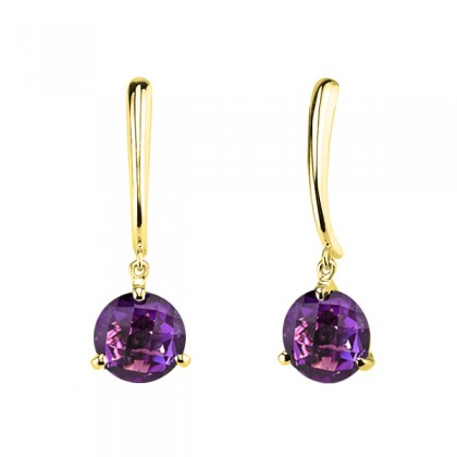 Amethyst Gem dangle earrings