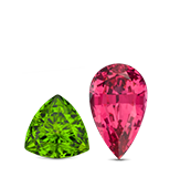 Birthstones Peridot or Spinel