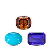 Birthstones Zircon, Tanzanite & Turquoise