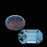 Aquamarine and Bloodstone