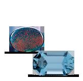 Birthstones Aquamarine and Bloodstone
