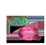Birthstones Tourmaline & Opal