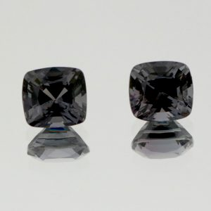 Grey Spinel Cushion cut pair