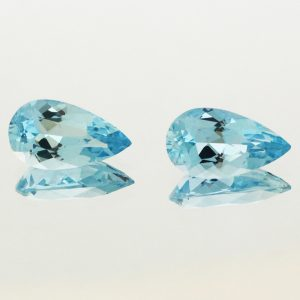 Aquamarine Pear Shapes