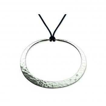 Twilight Hoop Pendant with Diamonds