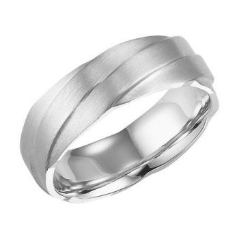 Men's Wedding Band With Overlap Detail