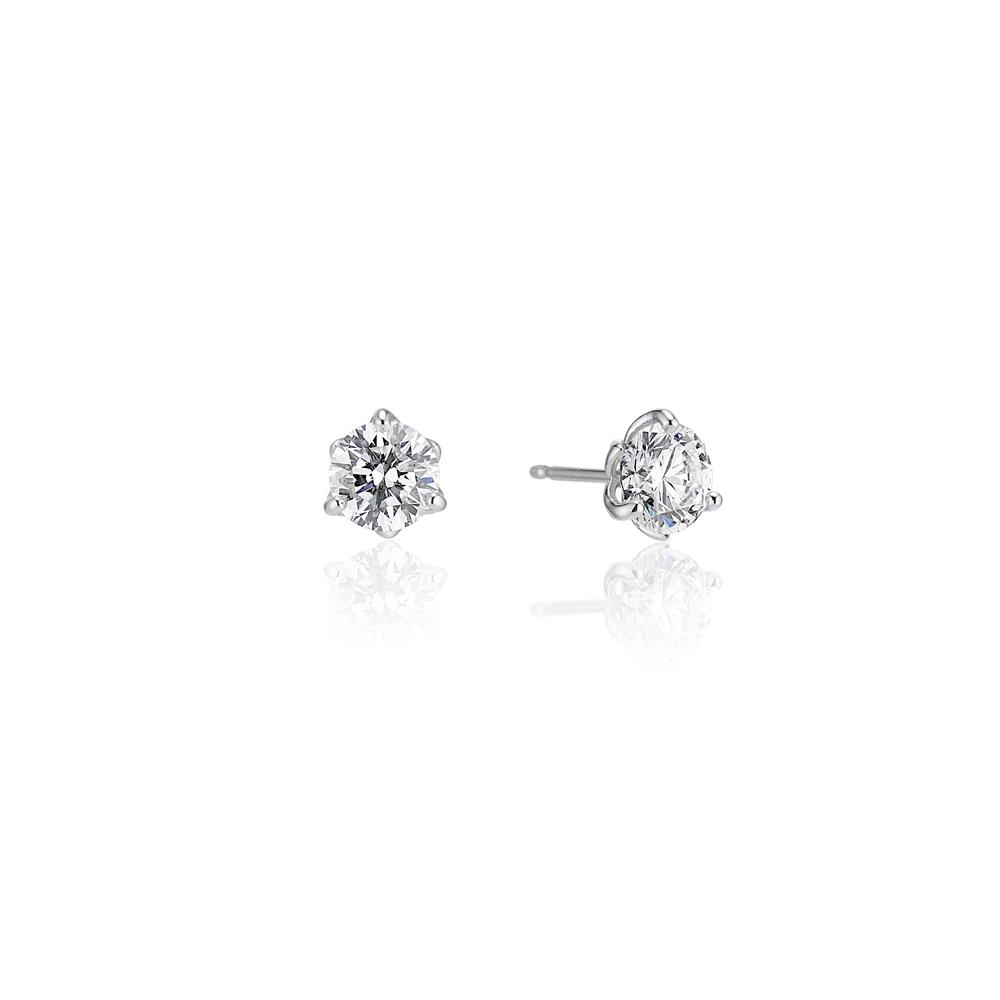 Jubilee Diamond Stud Earrings Brown Goldsmiths
