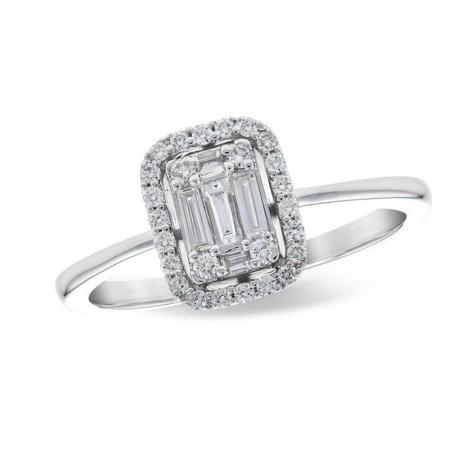 020275 - Diamond Halo Illusion Ring