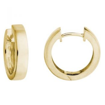 Yellow Gold Hinged Hoops
