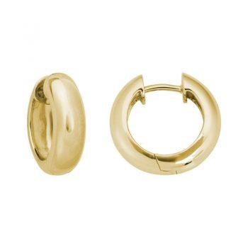 201194 - GEW55TL - Gold Huggie Hinged Hoops