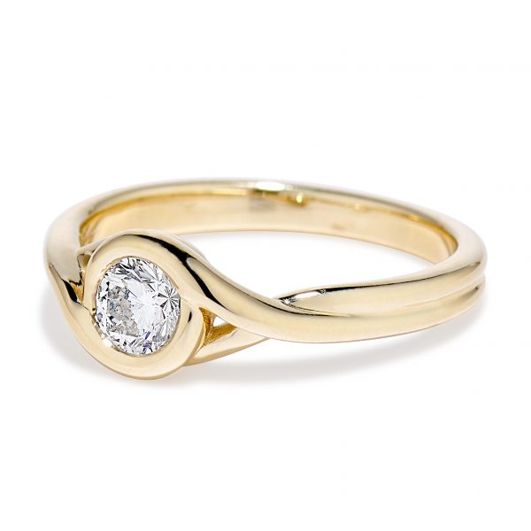 Petite Embrace ring 14k yellow side view