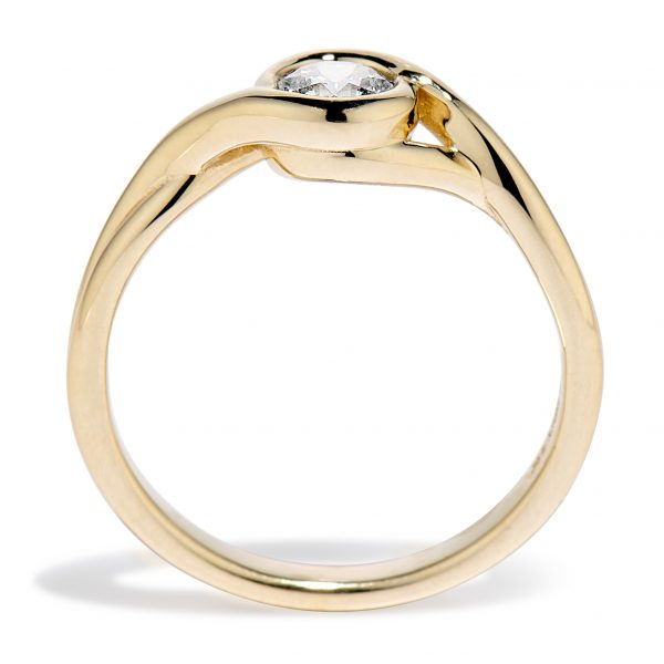 Petite Embrace ring 14k yellow side view 2