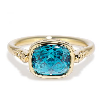 Blue Zircon Concerto Ring 18k yellow gold 160495
