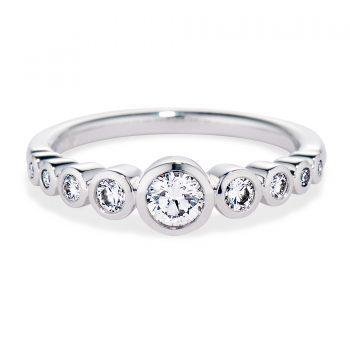 bezel set diamond tapered ring