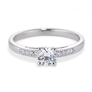 Diamond and White Gold Stella Ring